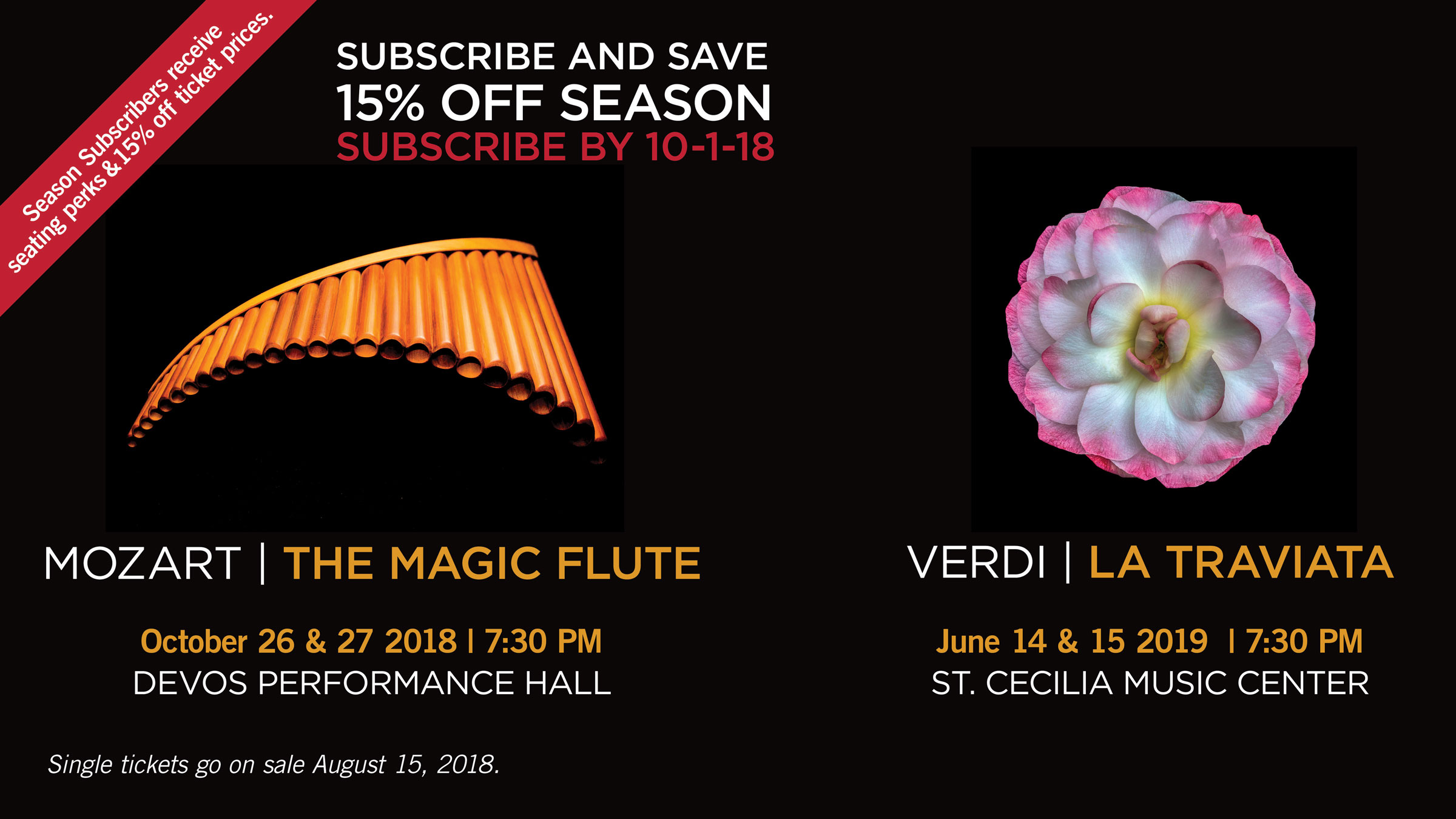 Subscribe to our 2018 season and save