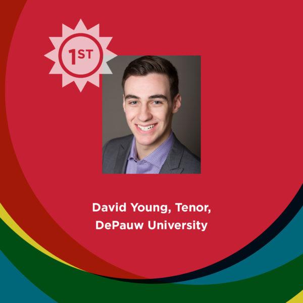 1st—David Young, Tenor, DePauw University